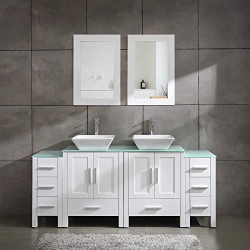 Homecart Double Sink Bathroom Vanity Cabinet