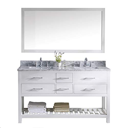 Virtu USA Caroline Estate Double Sink Bathroom Vanity