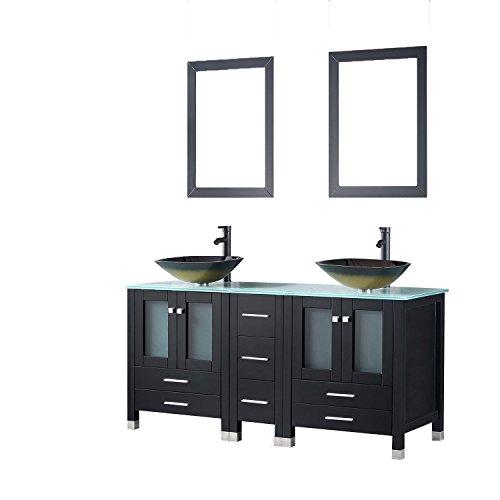 Walcut Black Bathroom Vanity
