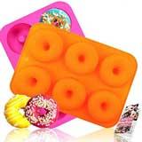 HEHALI Silicone Donut Pan- 2pcs Non-Stick Mold