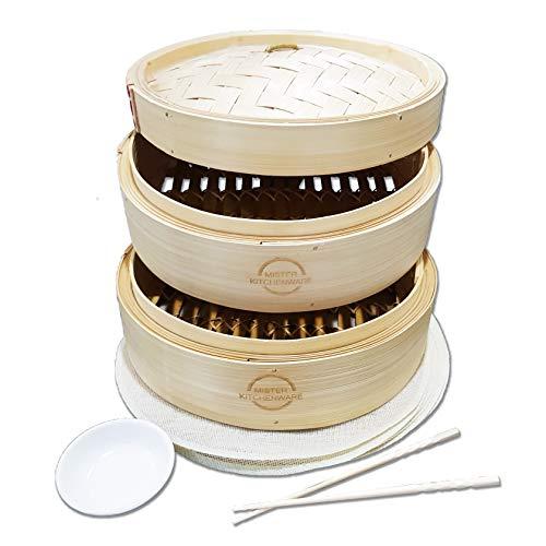 Mister Kitchenware Handmade Bamboo Steamer