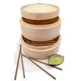 Premium 10 Inch Handmade Bamboo Steamer