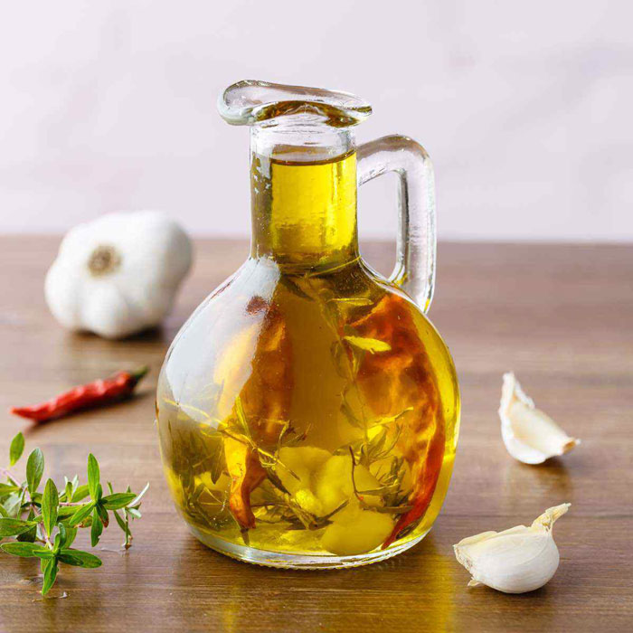 garlic flavored oil
