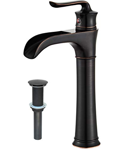 MYHB Oil Rubbed Bathroom 360º Swivel Vessel Sink Faucet Bronze