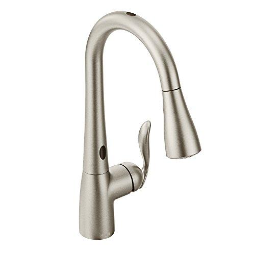 Moen 7593ESRS Arbor On-Handle Pulldown Kitchen Faucet