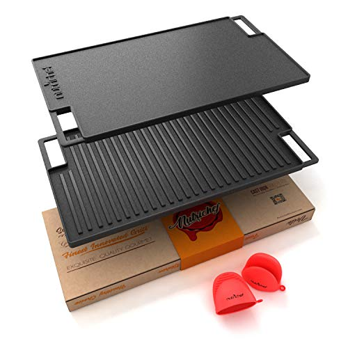 NutriChef Cast Iron Reversible Grill Plate