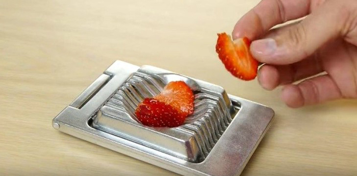 Egg Cutter with Fruits