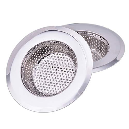 CORNERJOY 4.5 Inch Diameter Rim Heavy Duty Stainless Steel Kitchen Sink Basket Strainer